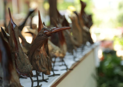 Hand Carved Wooden Birds
